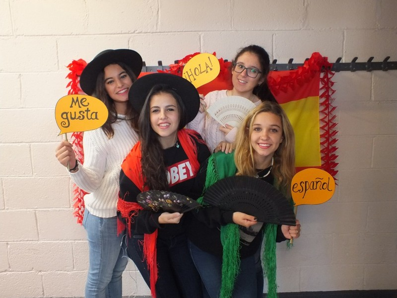 Some of our International students get into the swing of Open Day!
