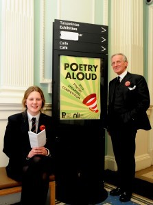 Poetry Aloud finalist, 2014 with teacher