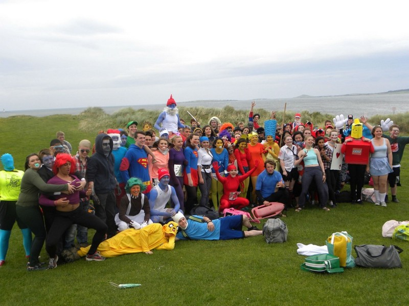 TY students at Rosses Point in Nov. 2014 for their sponsored swim for charity