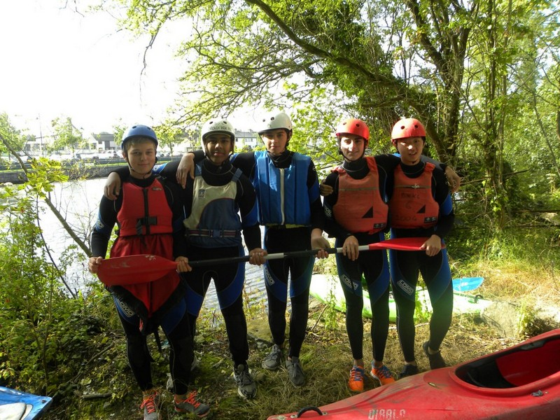 All TY students get the chance to try kayaking