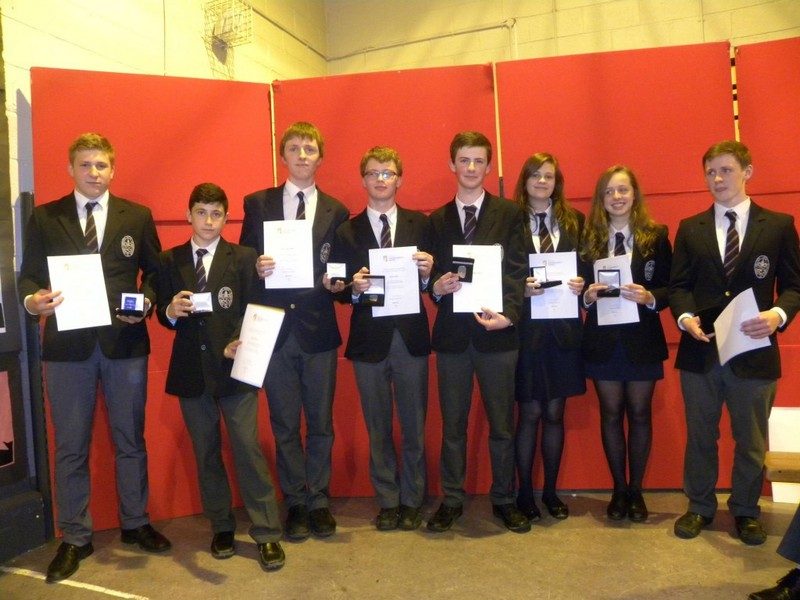 Some of the students who received their Bronze Awards in 2015