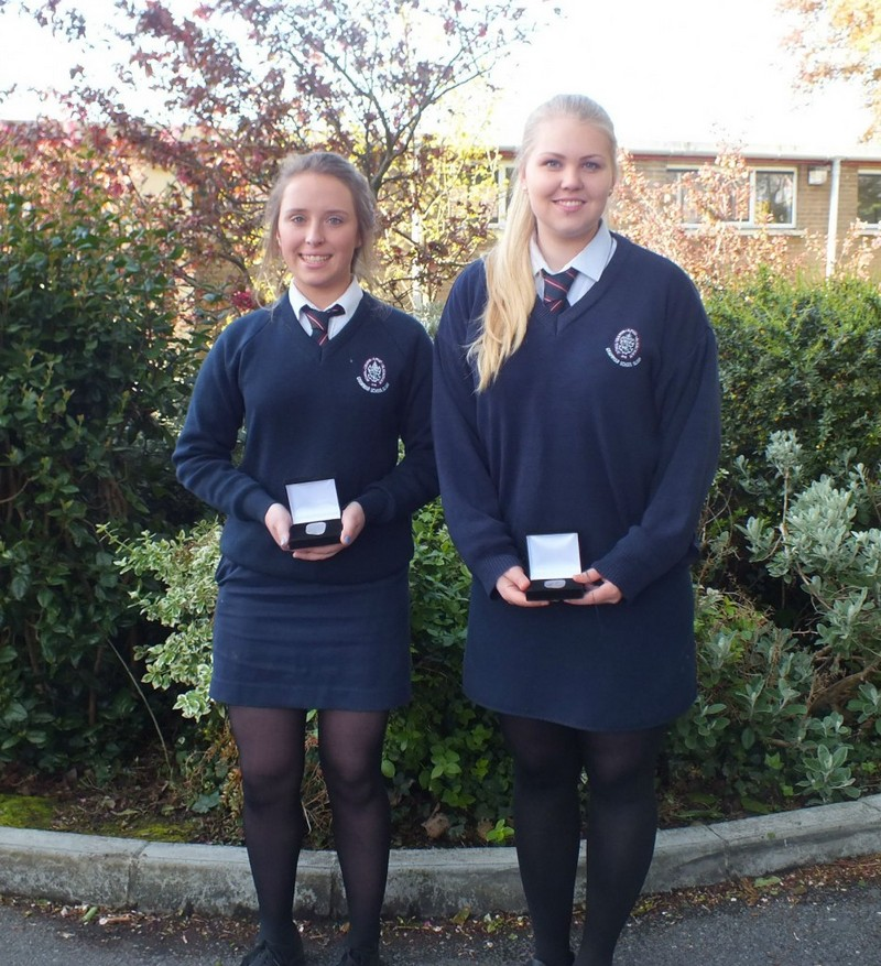 Two Senior students who received the Silver Award in 2014