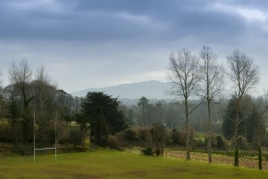 view from rugby pitch