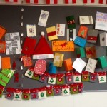 Christmas cards made by German students