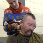 Mr Lynch gets shaved for charity