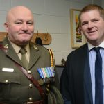 Deputy Principal Jimmy Staunton with Commandant John Martin of the Irish Defence Forces
